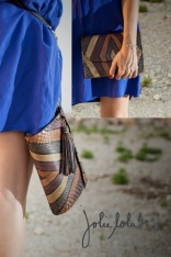retro clutch tribal snake